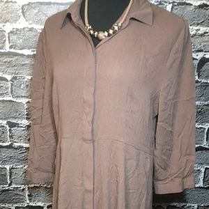 NWt Soft Surroundings Kaftan Dress Crinkle Gauze L